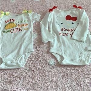 2 onesie for baby girl!